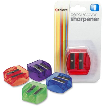 OIC, OIC30230, Dual-purpose Pencil & Crayon Sharpener, 1 Each, Assorted