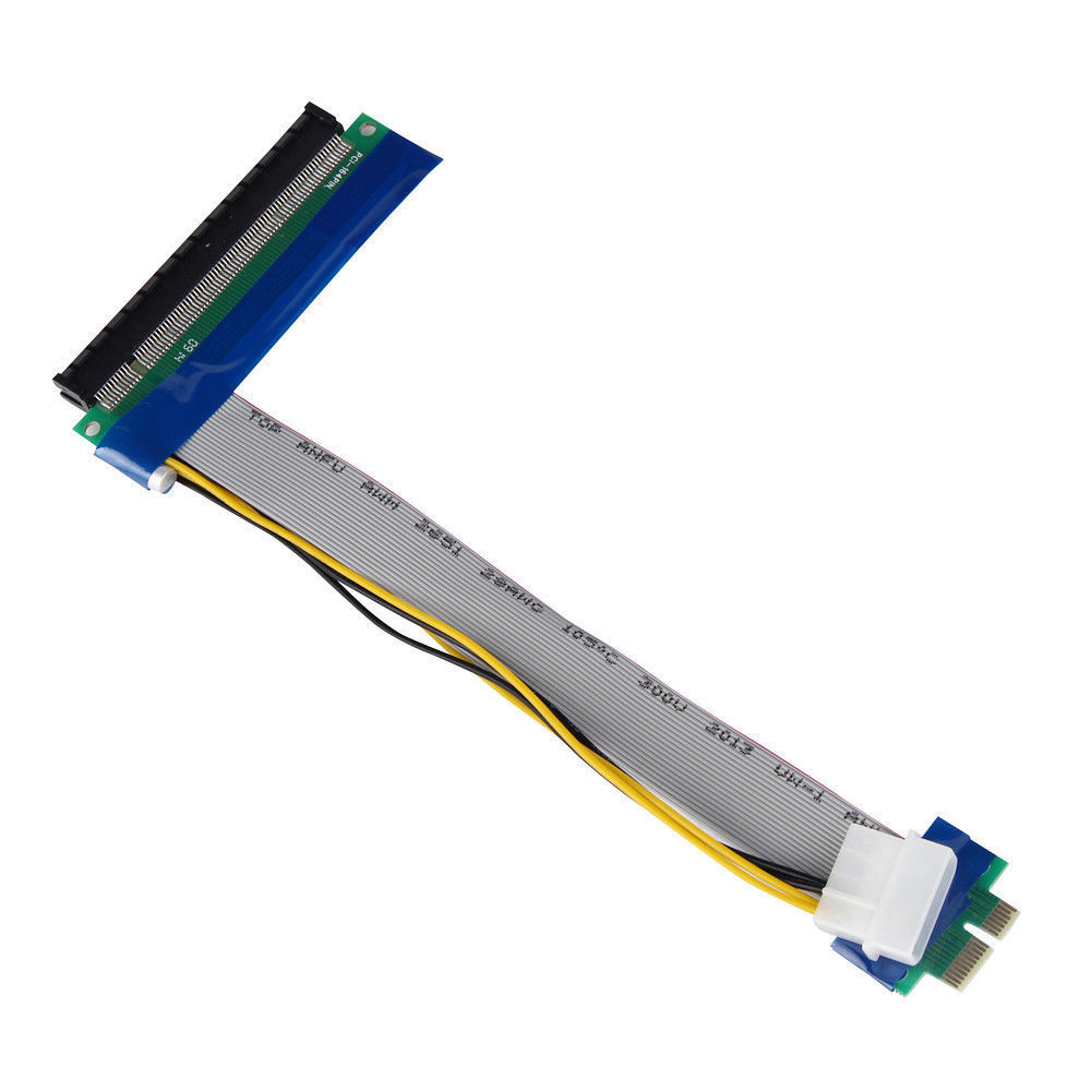 PCI-E 1x To 16x Extender PCI Express Riser Ribbon Cable with Molex Power 34276889502 - image 7 de 7