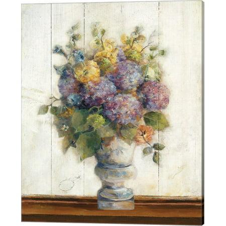 (Dreamy Hydrangea I on Birch by Marilyn Hageman, Canvas Wall Art, 16W x 20H)