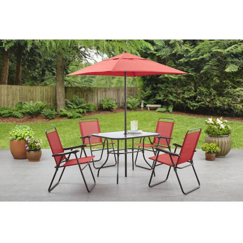 Mainstays Searcy Creek 6Piece Folding Outdoor Dining Set
