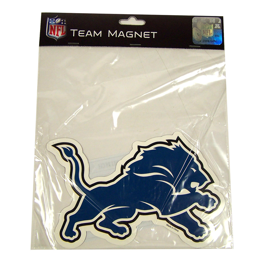 Detroit Lions Official NFL 6 inch  Team Logo Magnet by Forever Collectibles