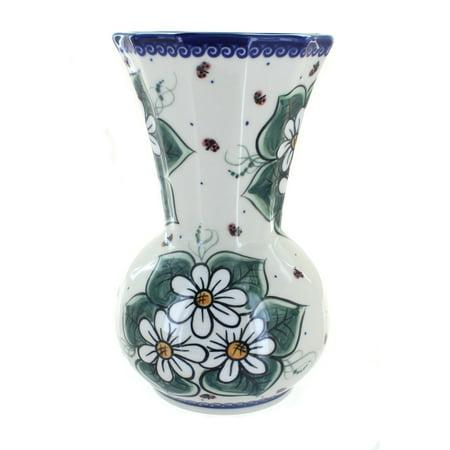 Polish Pottery Ladybug Vase