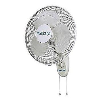 Hurricane Supreme 16-Inch Wall Mount Oscillating Fan Size: 16 Inch, Model: 73...
