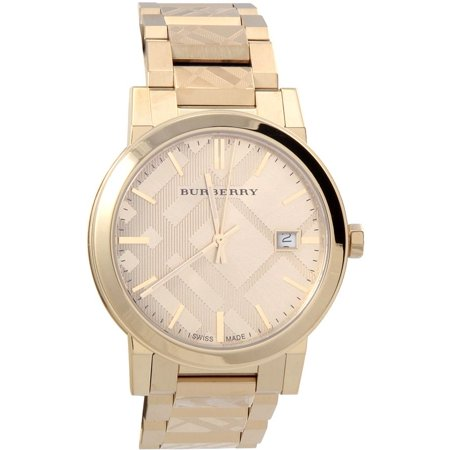 - Burberry BU9038 City Unisex Watch Gold Dial Stainless Steel Case Quartz Movement