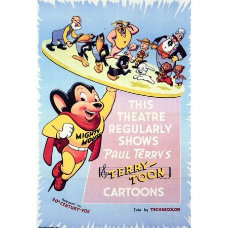 This Theater Regularly Shows Paul Terrys Terrytoon Cartoons Movie Poster 11 X 17 Walmart Com