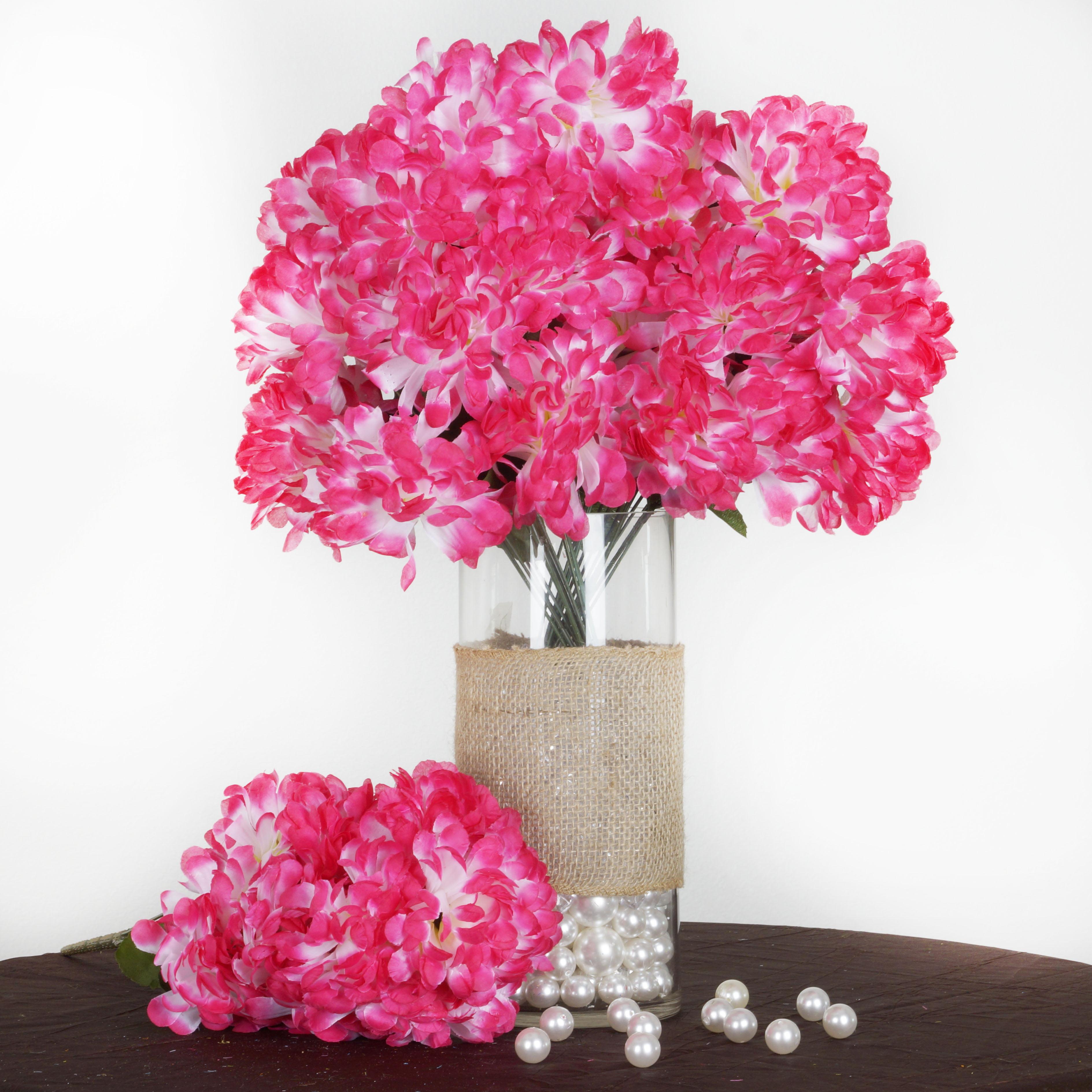 BalsaCircle 56 Large Chrysanthemum Mums Balls Silk Flowers - DIY Home Wedding Party Artificial Bouquets Arrangements Centerpieces