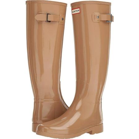 a0cf4b1c1c47 Hunter - Hunter Women's Original Refined Gloss Tall Rain Boots, Tawny, 8  B(M) US - Walmart.com