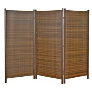 Versare 3 Panel Wicker Partition Room Divider