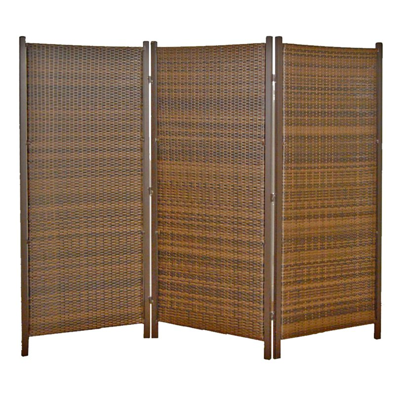Versare 3 Panel Wicker Partition Room Divider Walmartcom