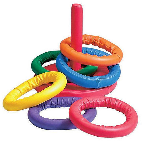 Sportime Soff-Ring Toss Game, Includes a Set of 6 Rings
