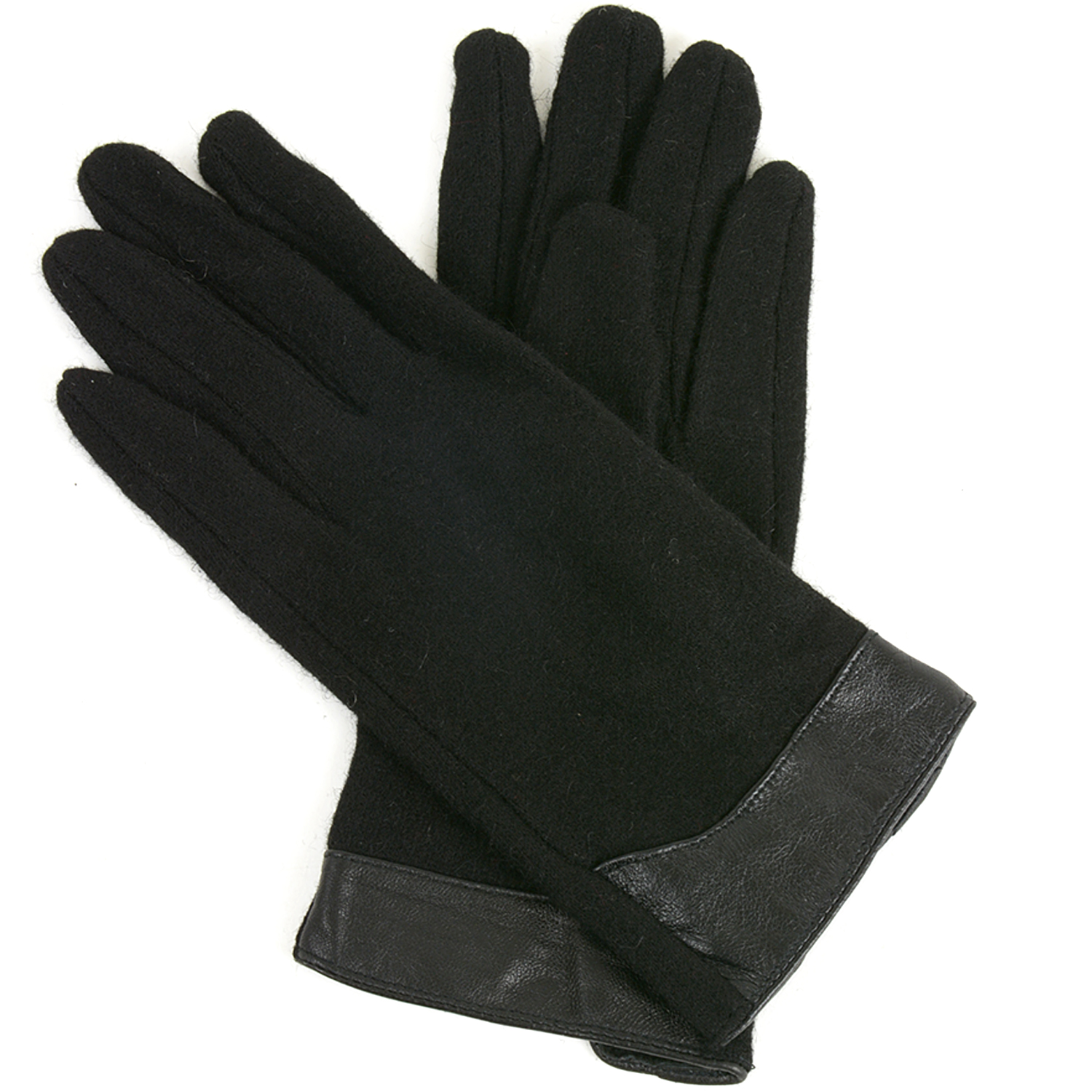 Alpine Swiss Womens Evening Gloves Leather Trim Touchscreen Texting Wool Mittens