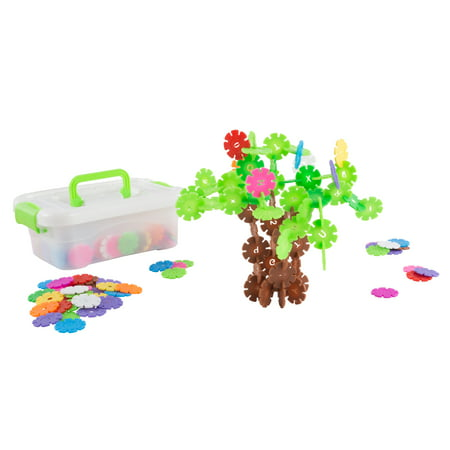 Imagination Flakes- Interlocking Plastic Disc Toy Set with Letters and Numbers-STEM Learning, Building, and Creating For Boys and Girls by Hey! Play!