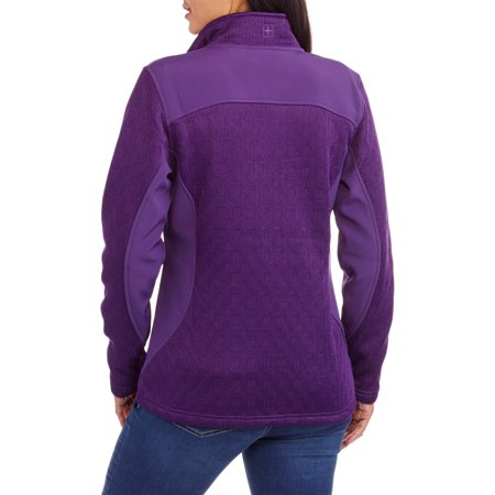Swiss Tech Women's Textured Tech Fleece Jacket