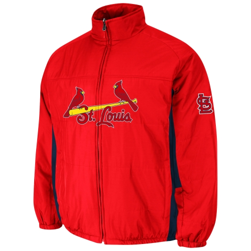 St. Louis Cardinals Double Climate On-Field Jacket - Red
