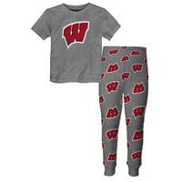"Wisconsin Badgers Toddler NCAA ""Game Winner"" Pajama T-shirt & Sleep Pant Set"