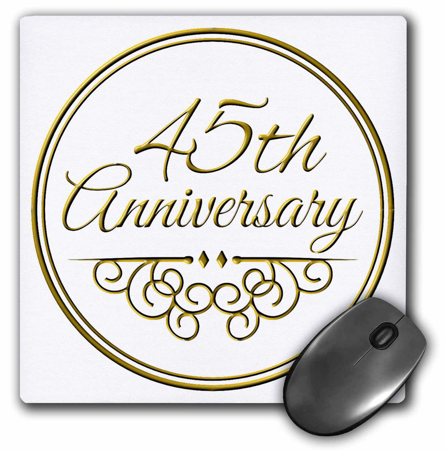 3 Wedding Anniversary Gift Ideas: 3dRose 45th Anniversary Gift