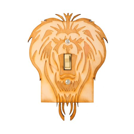 Lion Single Switch Plate 4.7x6.4 Laser Engraved (Laser Cut Switchplates)