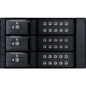2X5.25IN TO 3X3.5IN SAS/SATA BLACK TRAYLESS CAGE