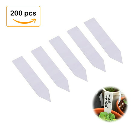 4 Inch Plastic Plant Tags Garden Labels Pot Marker Nursery Garden Stake Tags (200, -