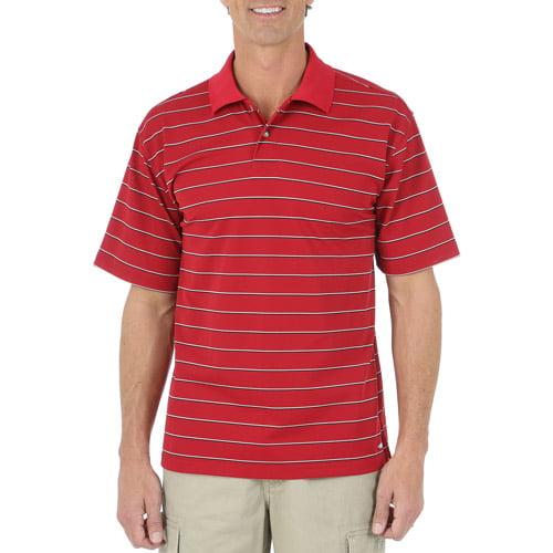 Wrangler Men's' Short Sleeve Stripe Performance Polo