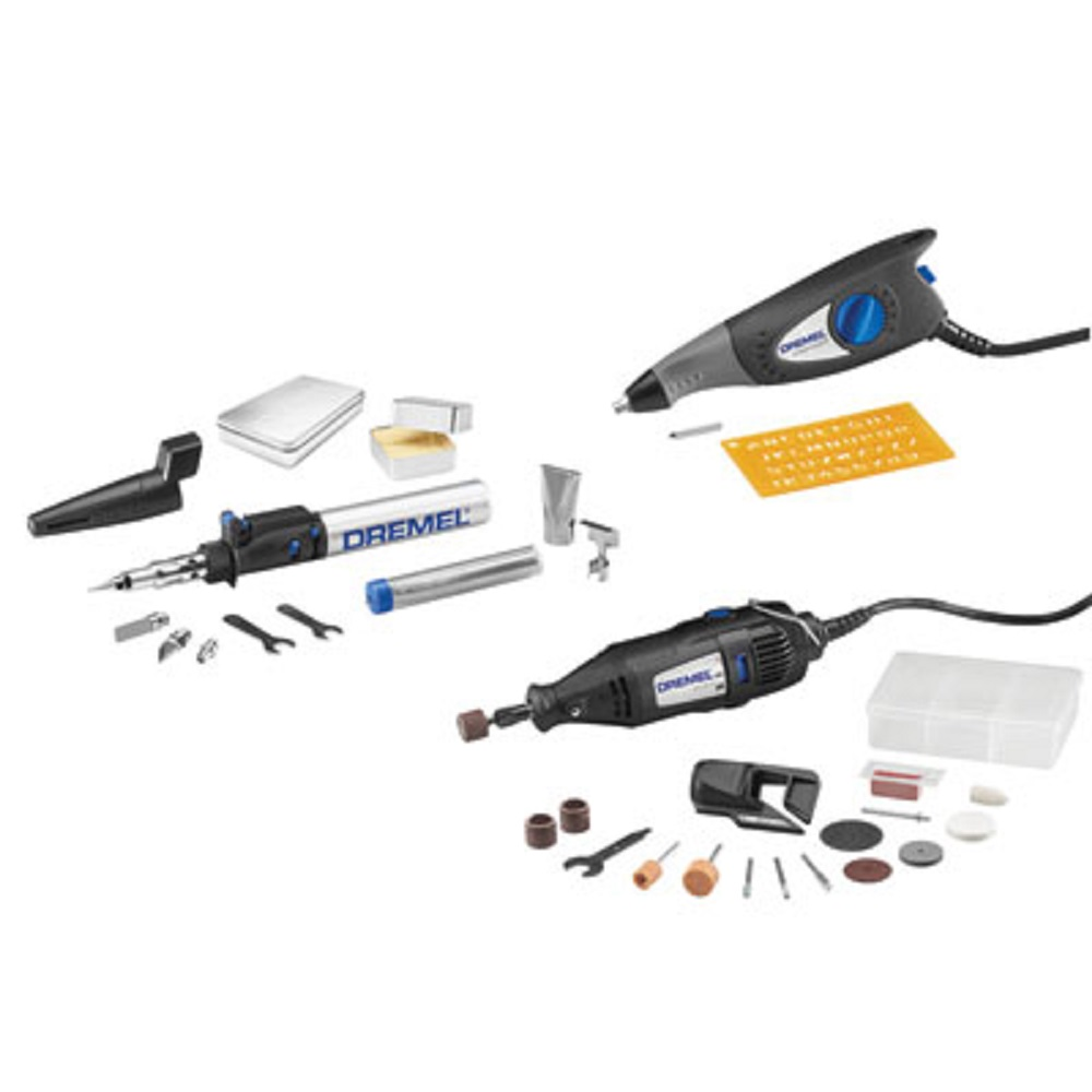 Dremel 2290 Maker Kit with Rotary Tool, VersaTip Soldering Torch, and Dremel Engraver with 32 Accessories and Carrying Case