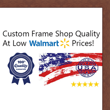 19x27 - 19 x 27 Cherry Flat Solid Wood Frame with UV Framer