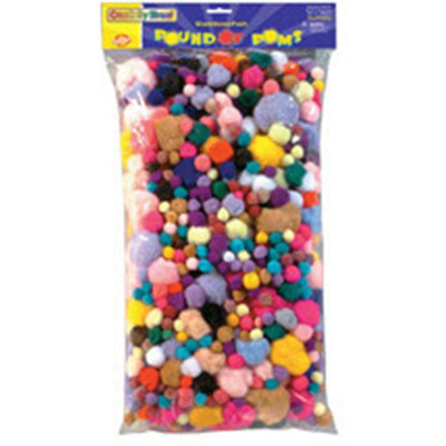 CHENILLE KRAFT COMPANY CK-818001 POM PONS ASSORTED 1 LB.  BAG