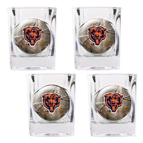 NFL - Buffalo Bills Open Field 4pc. Square Shot Glass Set