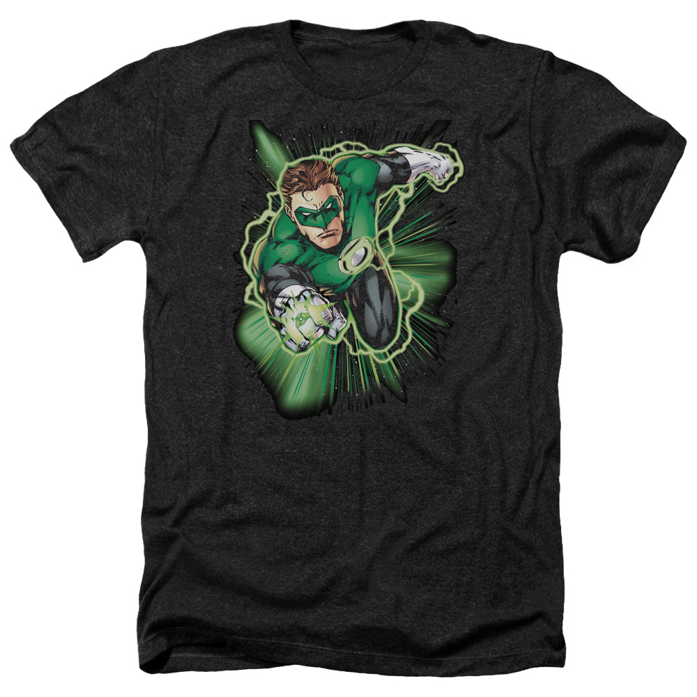 Jla Green Lantern Energy Mens Heather Shirt