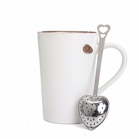 Heart Shaped Tea Infuser Spoon Strainer Stainless Steel Steeper Handle Shower ,Black Friday Big Sale! (Tea Steeper)