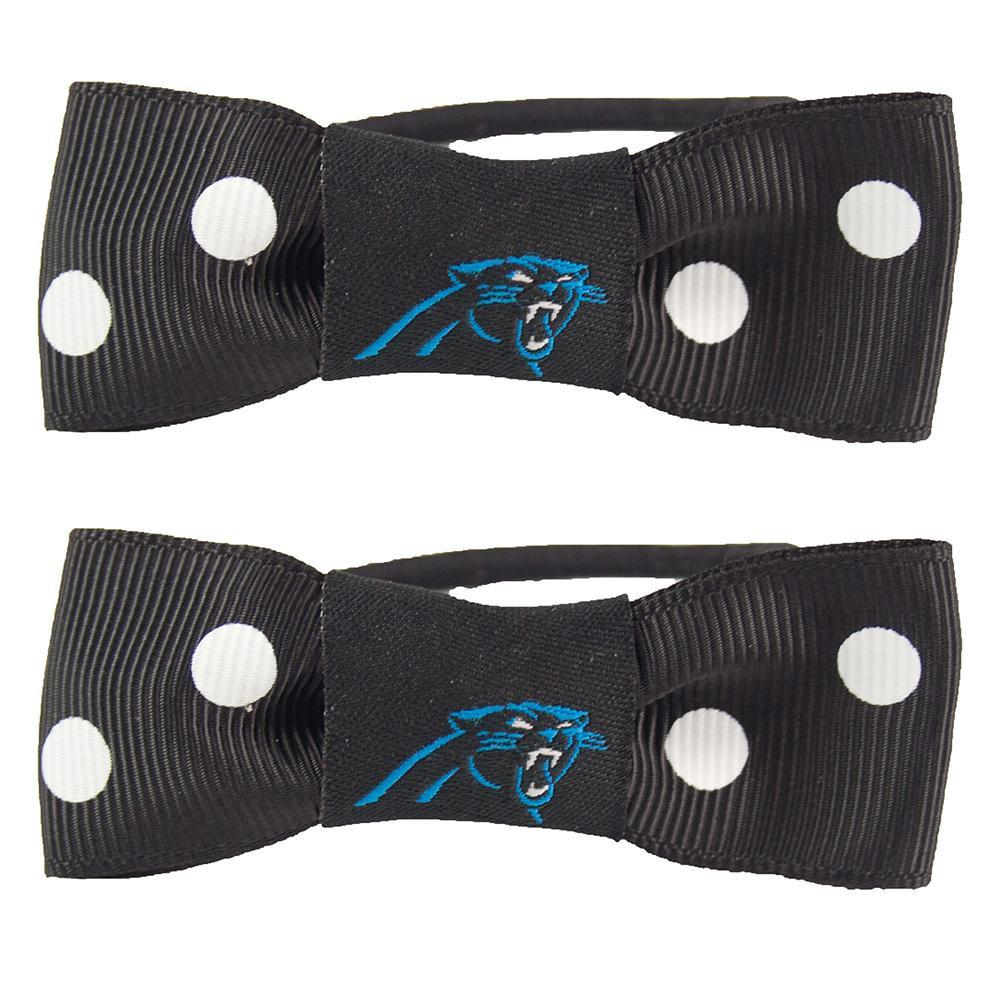 Carolina Panthers Bow Pigtail Holder
