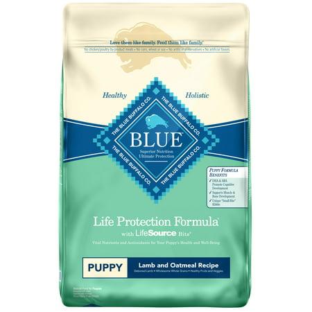 Blue Buffalo Puppy - Blue Buffalo Life Protection Formula All Breeds Puppies Dry Dog Food, Lamb and Oatmeal Recipe, 30-lb