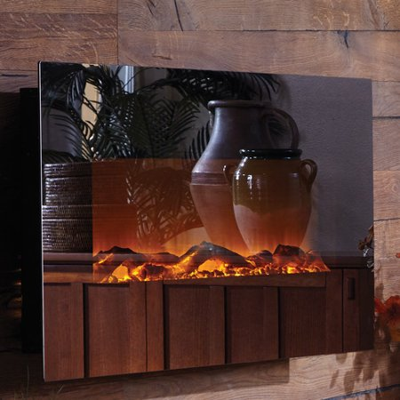 - Touchstone Mirror Onyx Wall Mount Electric Fireplace