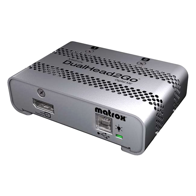 Matrox D2G-DP2D-MIF Dualhead2go Digital Me Adds Two Dvi Monitors To Your Mac Notebook Or Desktop Thr