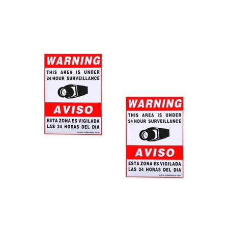 VideoSecu 2x Security Camera Video Warning Sticker Sign Decal for Home CCTV DVR CCD Video Surveillance Camera System BLE ()