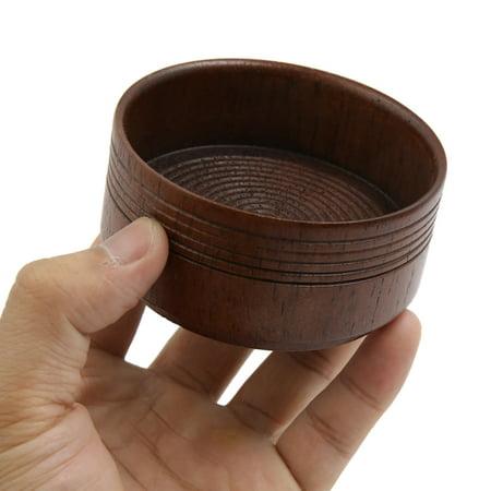 Male Brown Wooden Beard Shaving Soap Bowl Mug Container Holder Travel Shave Tool - image 2 de 3