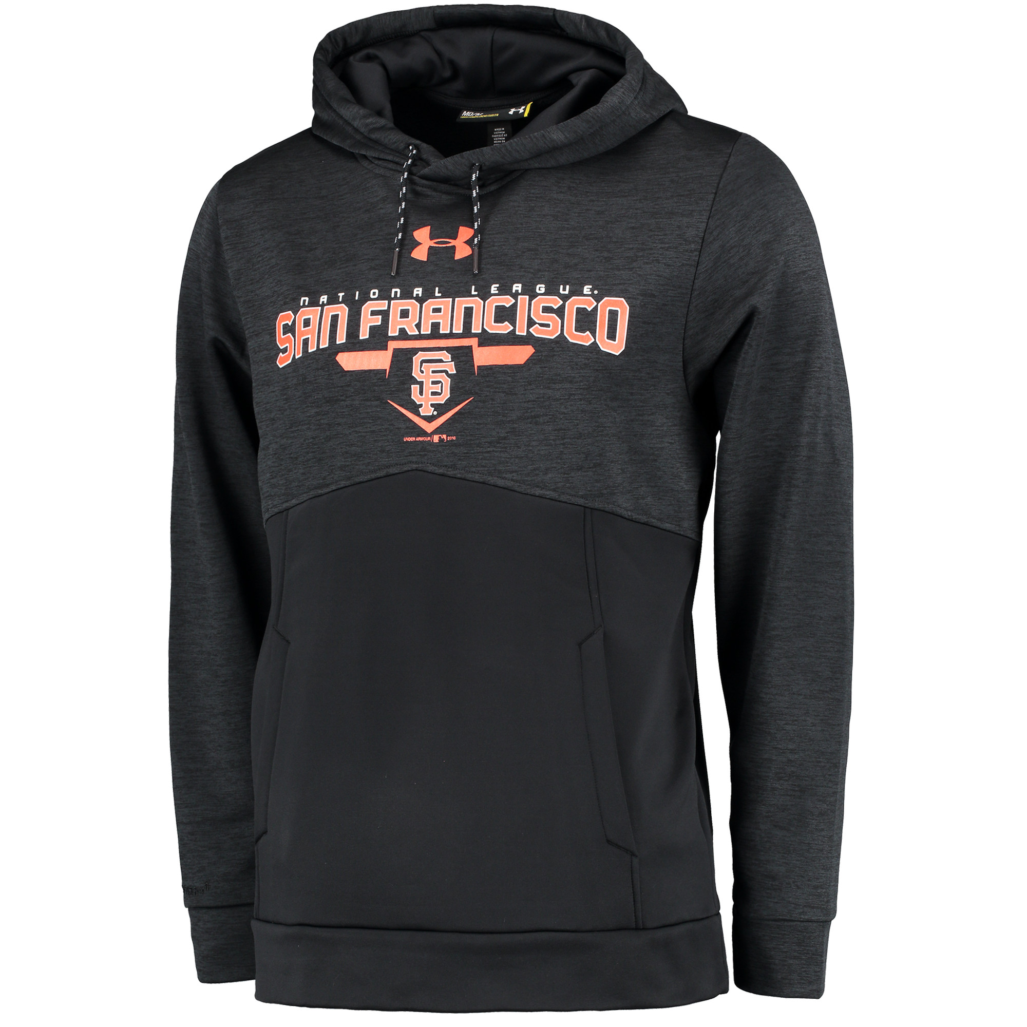 San Francisco Giants Under Armour Novelty Pullover Hoodie - Black