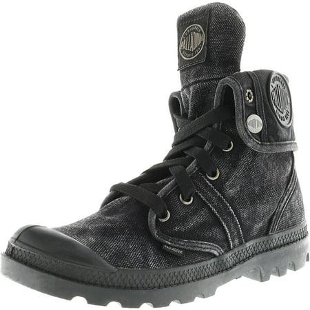 7f74017bb1d8 Palladium - Palladium Women's Pallabrouse Baggy Textile Black / Metal  High-Top Canvas Boot - 7.5M - Walmart.com