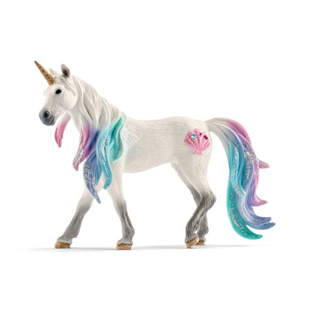 Unicorn Figurine Collection - Schleich Bayala, Sea Unicorn Mare Toy Figurine