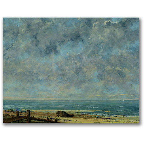"""Trademark Fine Art """"The Sea, C.1872"""" Canvas Wall Art by Gustave Courbet"""