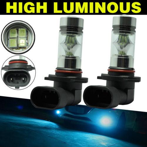 2x LED 9005 HB3 9145 H10 Fog Lights Kit Bulbs White 6000K High Power Driving DRL