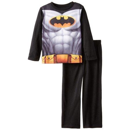 DC Comics Little Boys' Black Batman Pajama Set with Cape, Batman Black, Size: 7/8