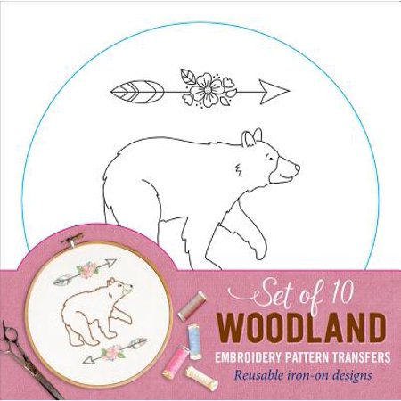 Woodland Embroidery Pattern Transfers