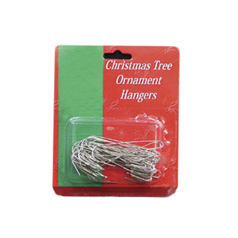 "50ct Large Jumbo Silver Metal Christmas Ornament Hooks 2.5"""