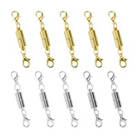 10 Pcs Gold and Silver Color Tone Magnetic Lobster Clasp for Jewelry Necklace Bracelet