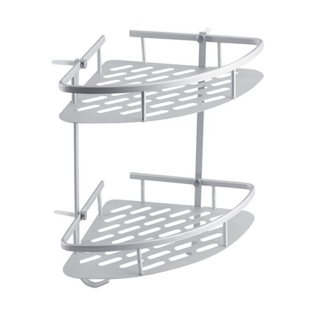 Walfront 2 Tier Aluminum Bathroom Corner Racks And Shelves Shower Caddy Shelf Storage Rack Shampoo