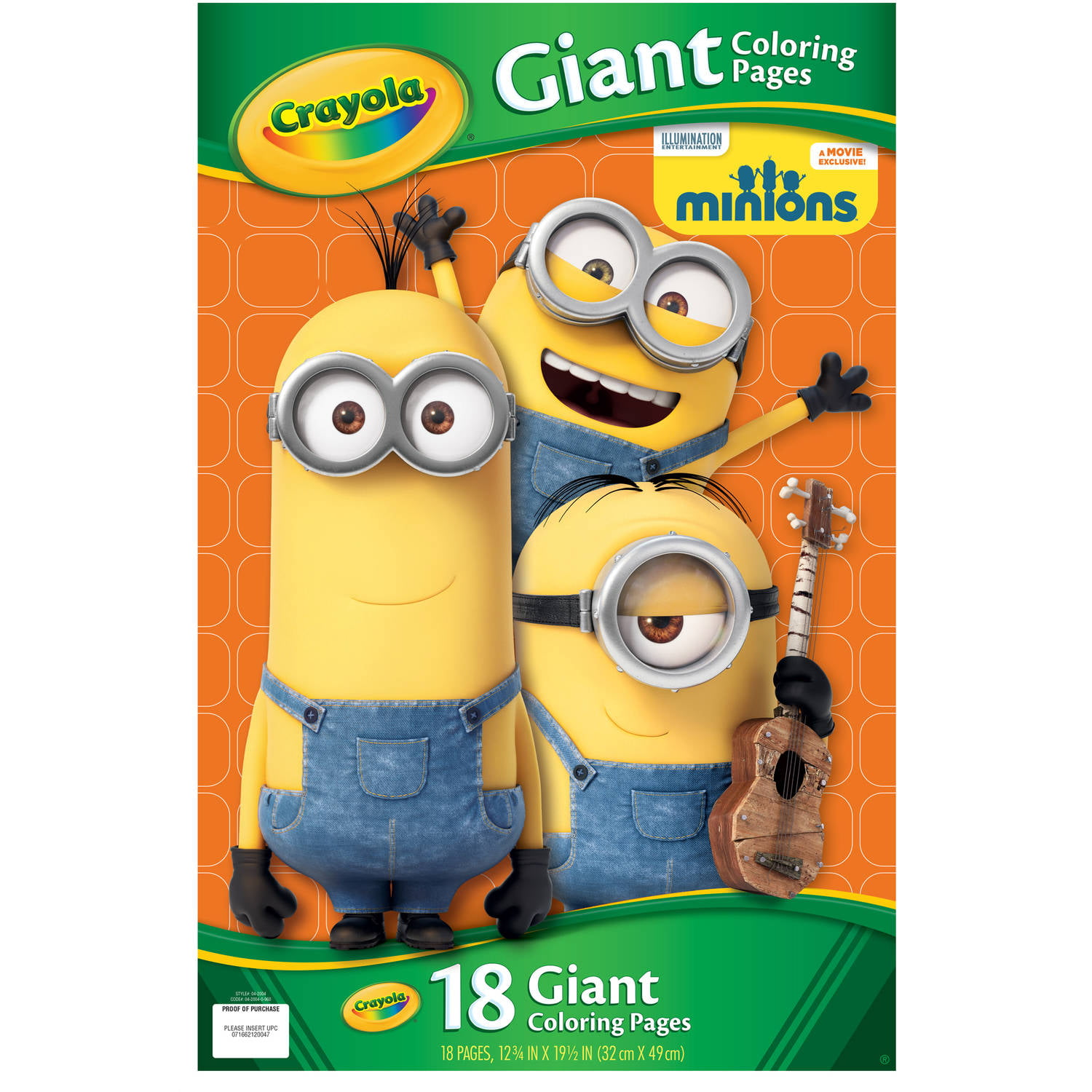 crayola giant coloring pages featuring minions 18 pages walmartcom