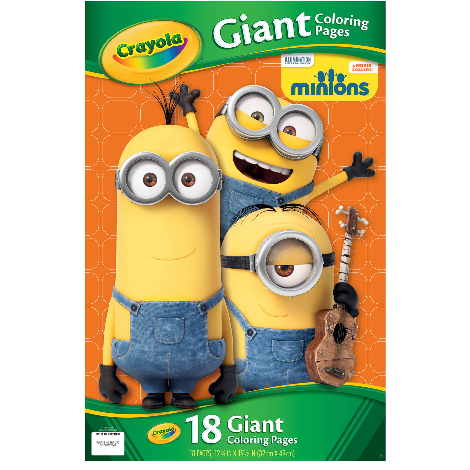 Crayola Giant Coloring Pages, Minions
