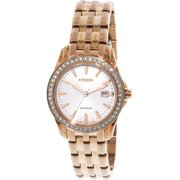 CITIZEN Women's Eco-Drive EW1903-52A Rose-Gold Stainless-Steel Japanese Quartz Fashion Watch