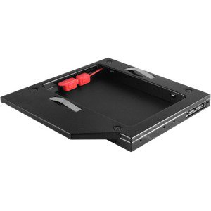 Vantec MRK-HC127A-BK SSD or HDD Aluminum Caddy for 12.7mm ODD Laptop Drive Bay, Black